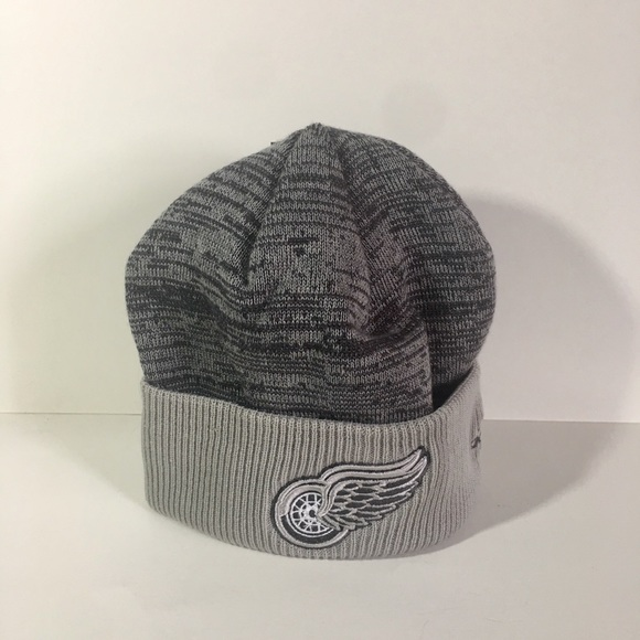 26f702b774775 Adidas Detroit Red Wings Winter Knit Hat
